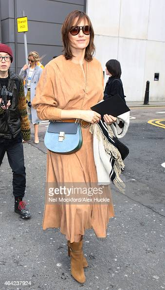 Yasmin Le Bon arriving for the Erdem Fashion Show at The Old Selfridges Hotel on February 23 2015 in London England