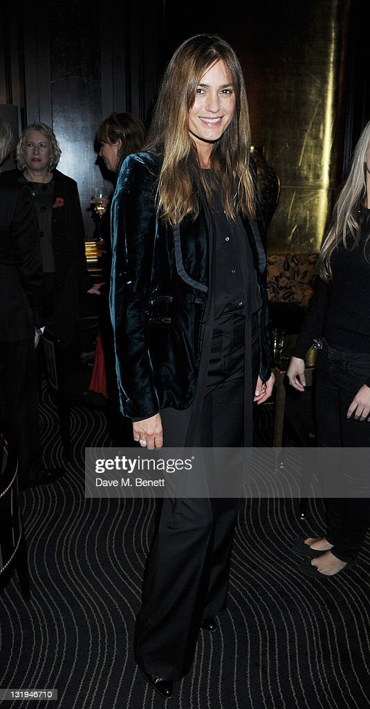 Yasmin Le Bon attend the video launch of Duran Duran 'Girl Panic!' at The Savoy Hotel on November 8, 2011 in London, England.