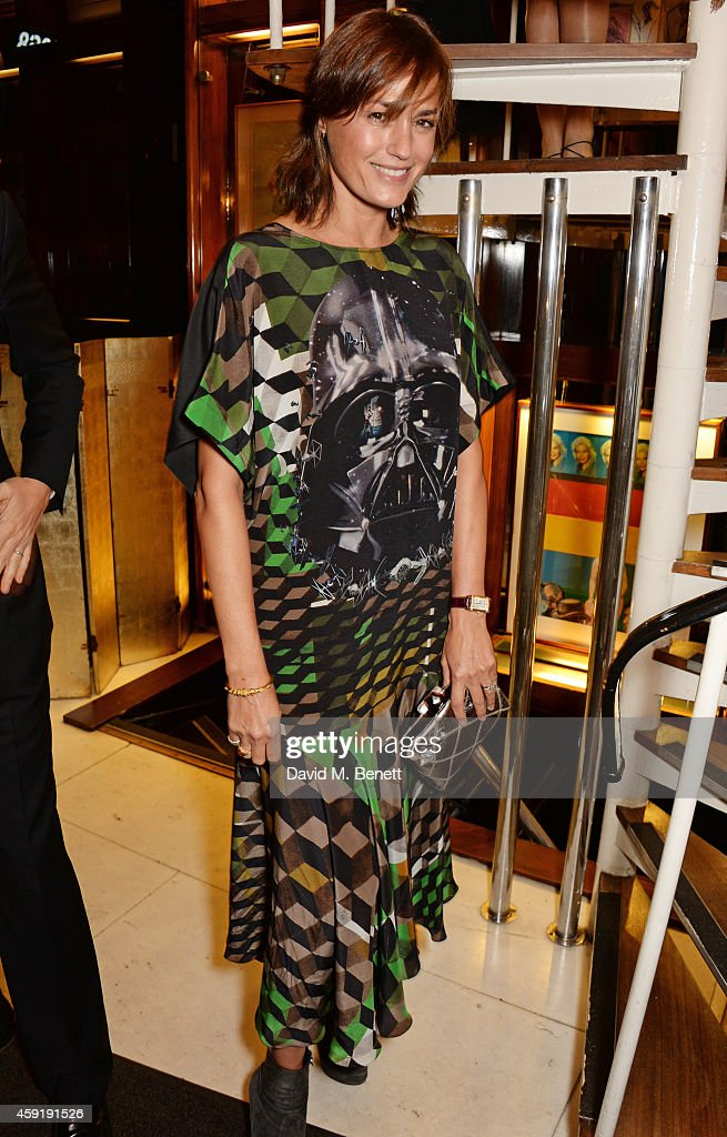 Yasmin Le Bon attends a dinner hosted by PORTER in honour of cover girl Christy Turlington Burns and her charity Every Mother Counts at Mr Chow on November 18, 2014 in London, England.