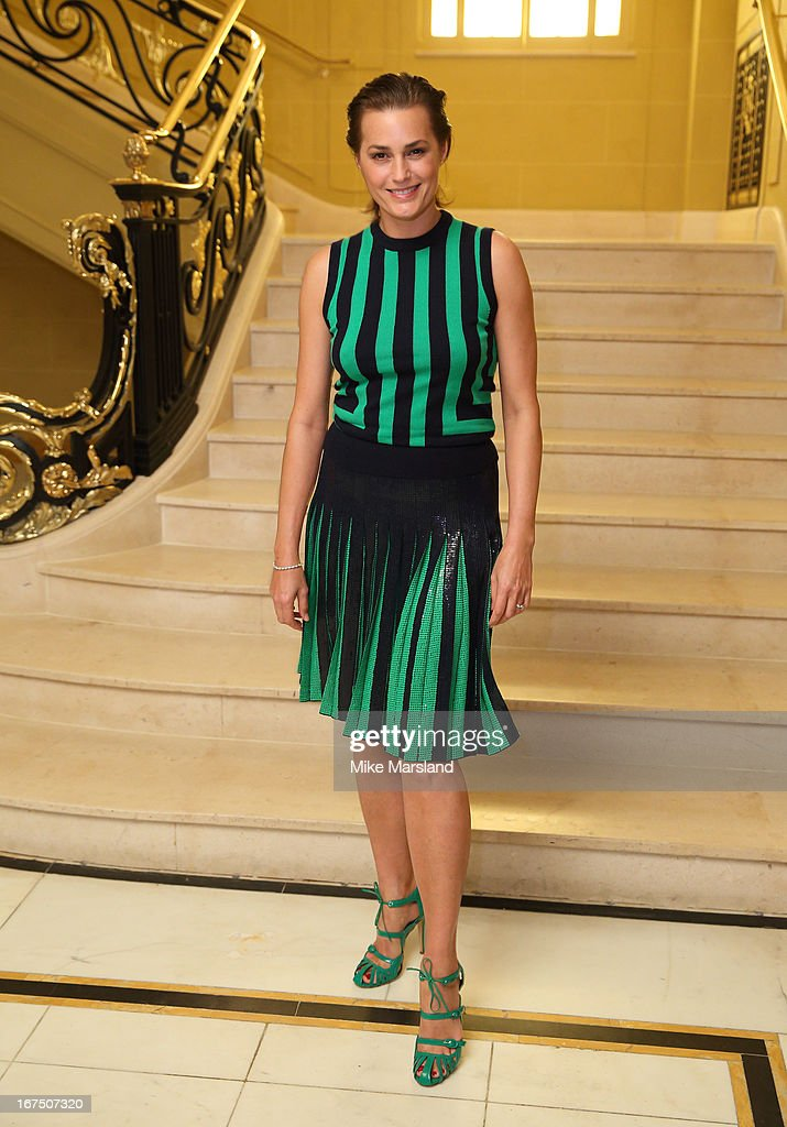 Yasmin Le Bon attends a Vogue dinner hosted by Alexandra Shulman in honour of Michael Kors at Cafe Royal on April 25, 2013 in London, England.