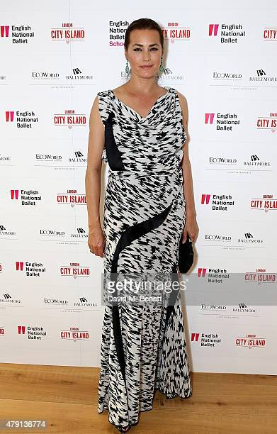 Yasmin Le Bon attends as Eco World Ballymore welcomes English National Ballet to its new home on London City Island on July 1 2015 in London United...