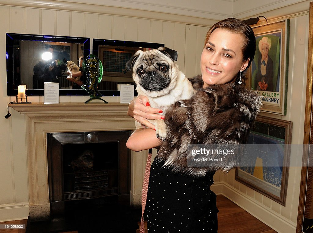 Yasmin Le Bon attends Dine for Dogs Trust, launching a dog friendly menu at The George Club on March 19, 2013 in London, England.