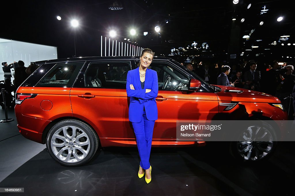 Yasmin Le Bon attends the all-new Range Rover Sport reveal on March 26, 2013 in New York City.
