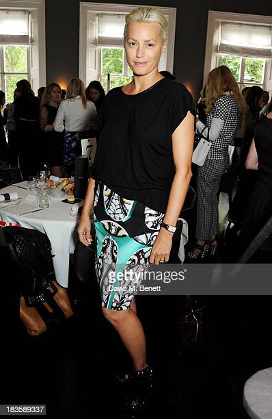 Yasmin Le Bon attends the annual Tatler Great Girls Lunch in aid of Cancer Research UK at Mortons on October 7 2013 in London England