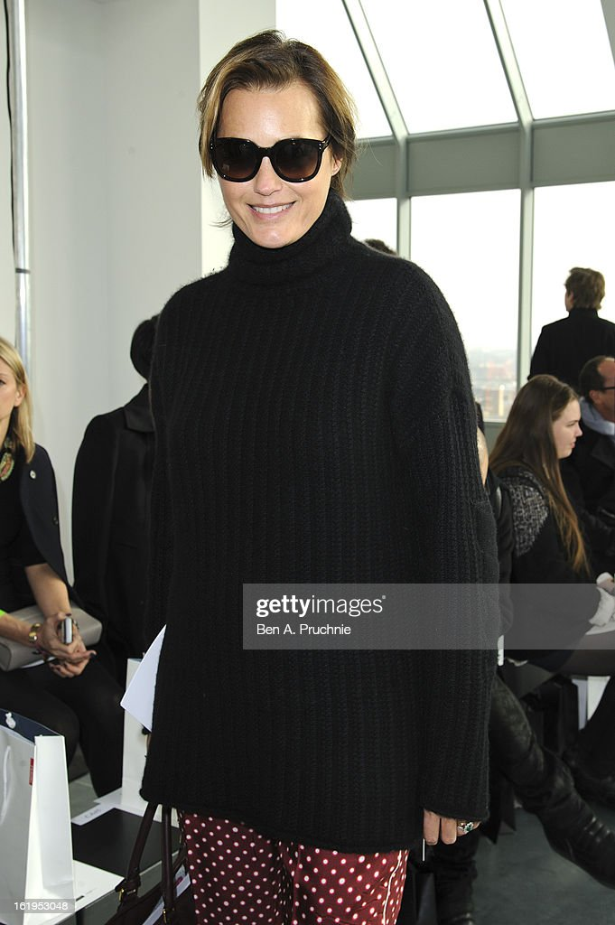 Yasmin Le Bon attends the Antonio Berardi show during London Fashion Week Fall/Winter 2013/14 at on February 18, 2013 in London, England.
