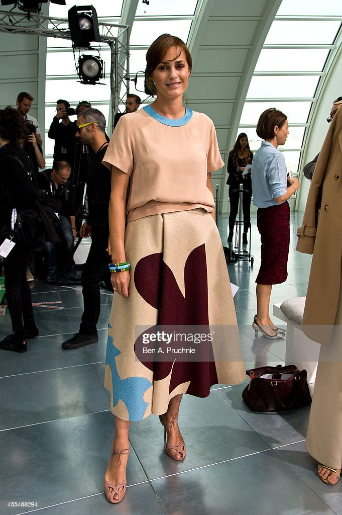 Yasmin Le Bon attends the Antonio Berardi show during London Fashion Week Spring Summer 2015 at on September 15 2014 in London England