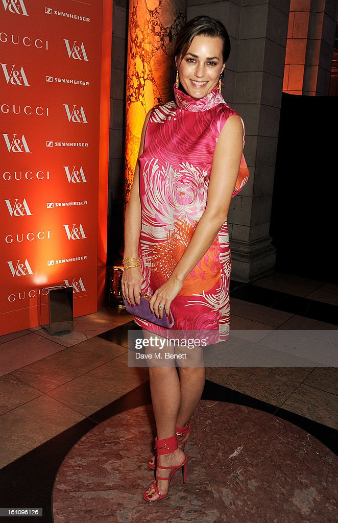 Yasmin Le Bon attends the dinner to celebrate The David Bowie Is exhibition in partnership with Gucci and Sennheiser at the Victoria and Albert Museum on March 19, 2013 in London, England.