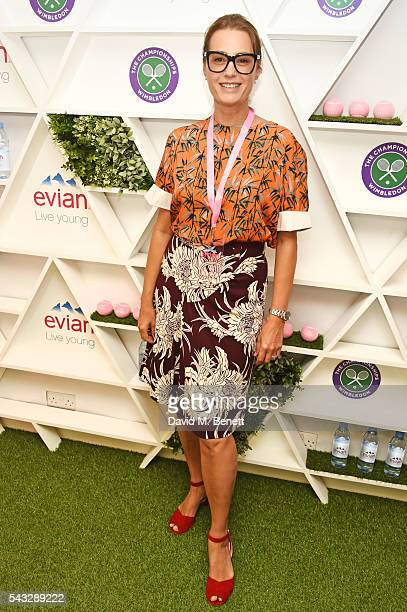 Yasmin Le Bon attends the evian Live Young suite during Wimbledon 2016 at the All England Tennis and Croquet Club on June 27 2016 in London England
