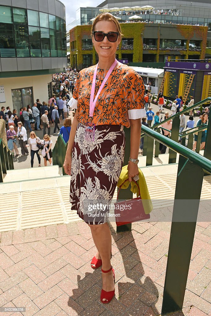 <a gi-track='captionPersonalityLinkClicked' href=/galleries/search?phrase=Yasmin+Le+Bon&family=editorial&specificpeople=161272 ng-click='$event.stopPropagation()'>Yasmin Le Bon</a> attends the evian Live Young suite during Wimbledon 2016 at the All England Tennis and Croquet Club on June 27, 2016 in London, England.
