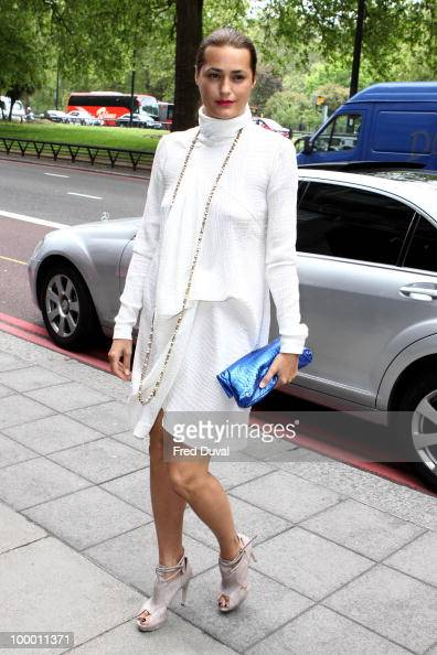 Yasmin Le Bon attends the Ivor Novello Awards at Grosvenor House on May 20 2010 in London England