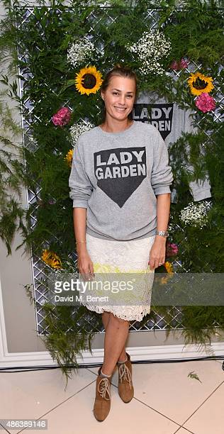 Yasmin Le Bon attends the Lady Garden x Topshop campaign launch featuring a sweatshirt collection by designer Simeon Farrar in aid of the...