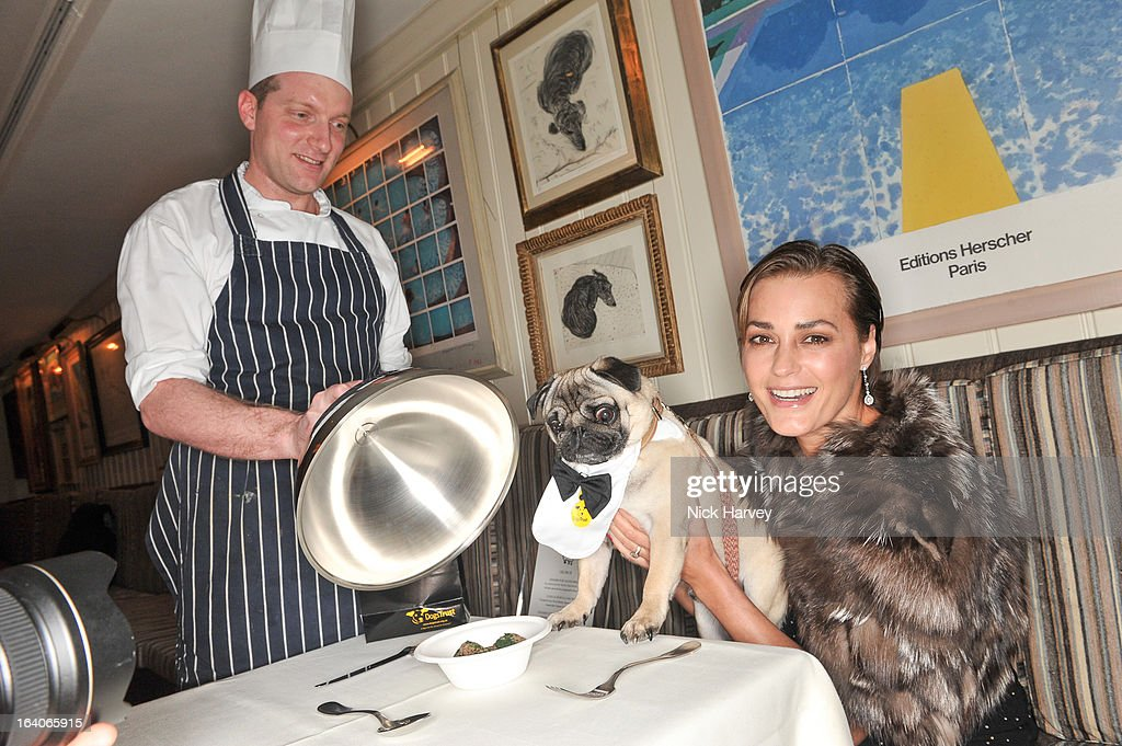 <a gi-track='captionPersonalityLinkClicked' href=/galleries/search?phrase=Yasmin+Le+Bon&family=editorial&specificpeople=161272 ng-click='$event.stopPropagation()'>Yasmin Le Bon</a> attends the launch of George's Dinner for Dogs menu on March 19, 2013 in London, England.
