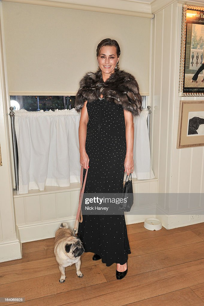 Yasmin Le Bon attends the launch of George's Dinner for Dogs menu on March 19, 2013 in London, England.