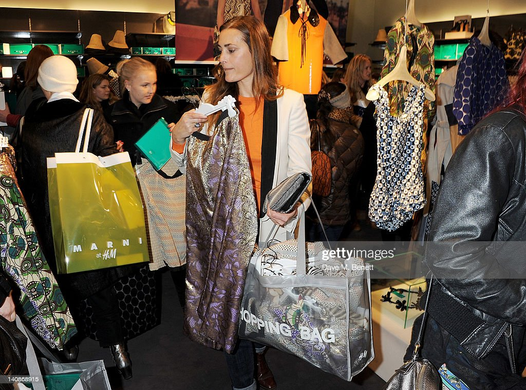 Yasmin Le Bon attends the launch of Italian fashion house Marni's collection for H&M at H&M Regent Street on March 7, 2012 in London, England.