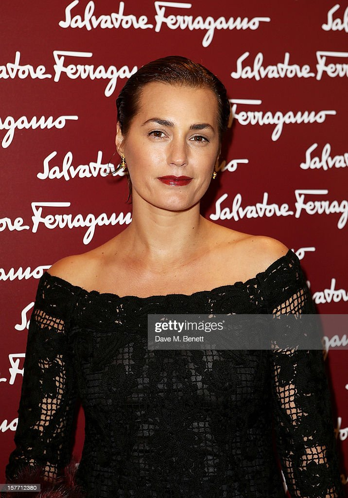 Yasmin Le Bon attends the launch of the Salvatore Ferragamo London Flagship Store on Old Bond Street on December 5, 2012 in London, England.