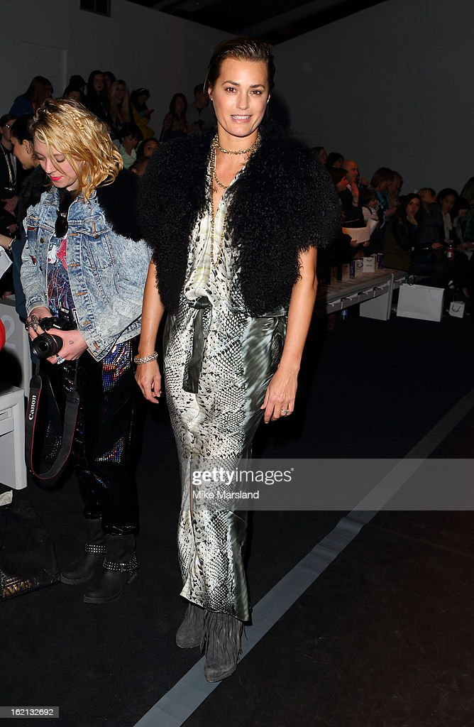 Yasmin Le Bon attends the Maria Grachvogel show during London Fashion Week Fall/Winter 2013/14 at Somerset House on February 19, 2013 in London, England.