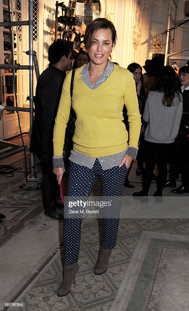 Yasmin Le Bon attends the Moschino cheap&chic show during London Fashion Week Fall/Winter 2013/14 at The Savoy Hotel on February 16, 2013 in London, England.