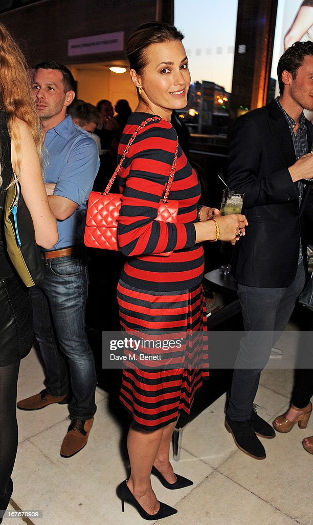 Yasmin Le Bon attends the opening party for The Vogue Festival 2013 in association with Vertu at Southbank Centre on April 27, 2013 in London, England.