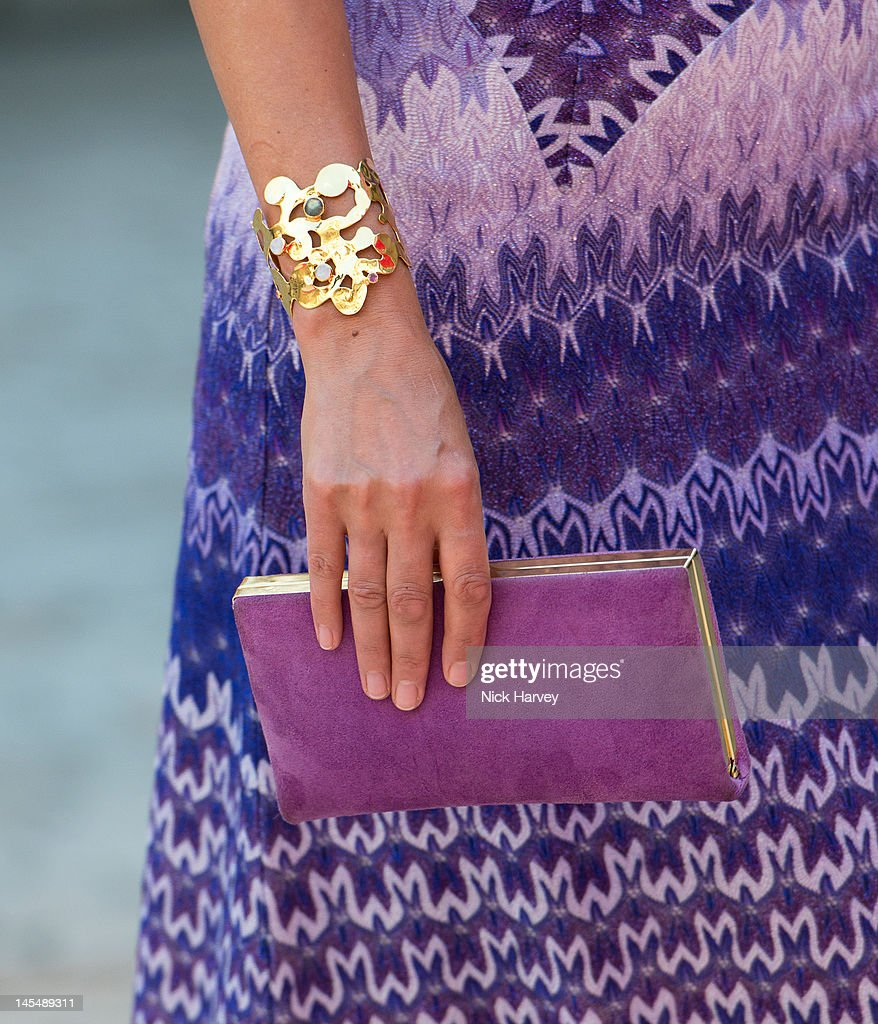 Yasmin le Bon (handbag detail) attends the private VIP view of Royal Academy Summer Exhibition 2012 at Royal Academy of Arts on May 30, 2012 in London, England.