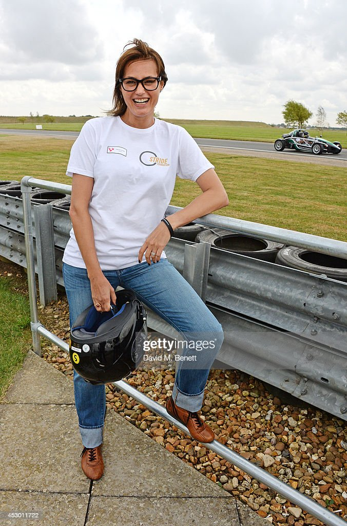 Yasmin Le Bon attends the Stride Foundation track day in aid of The Amy Winehouse Foundation at the Bedford Autodrome on August 1 2014 in Bedford...