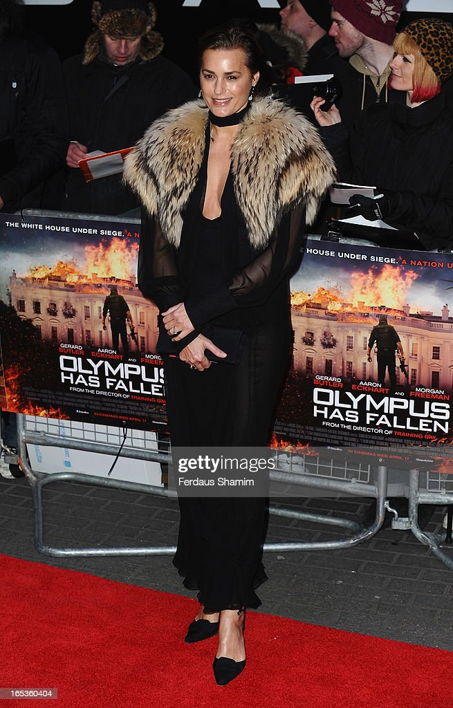 Yasmin Le Bon attends the UK Premiere of 'Olympus Has Fallen' at BFI IMAX on April 3, 2013 in London, England.