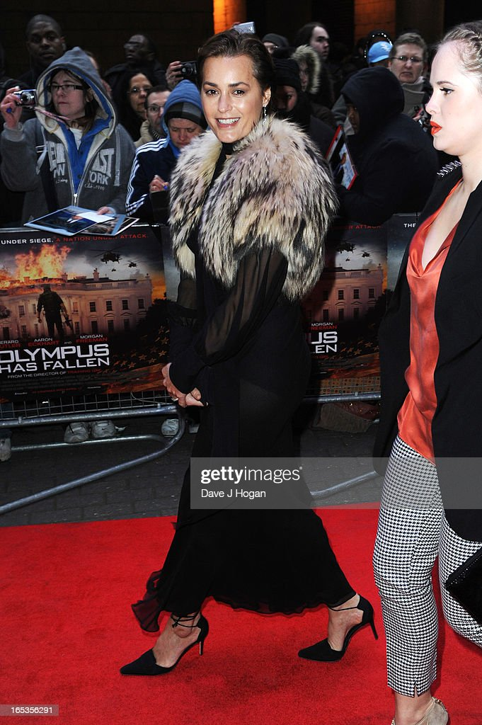 Yasmin Le Bon attends the UK premiere of 'Olympus Has Fallen' at The IMAX on April 03, 2013 in London, England.