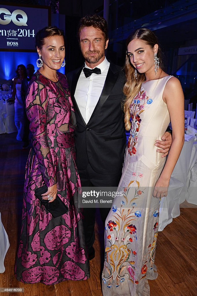 <a gi-track='captionPersonalityLinkClicked' href=/galleries/search?phrase=Yasmin+Le+Bon&family=editorial&specificpeople=161272 ng-click='$event.stopPropagation()'>Yasmin Le Bon</a>, Gerard Butler and <a gi-track='captionPersonalityLinkClicked' href=/galleries/search?phrase=Amber+Le+Bon&family=editorial&specificpeople=1103030 ng-click='$event.stopPropagation()'>Amber Le Bon</a> attend an after party following the GQ Men Of The Year awards in association with Hugo Boss at The Royal Opera House on September 2, 2014 in London, England.