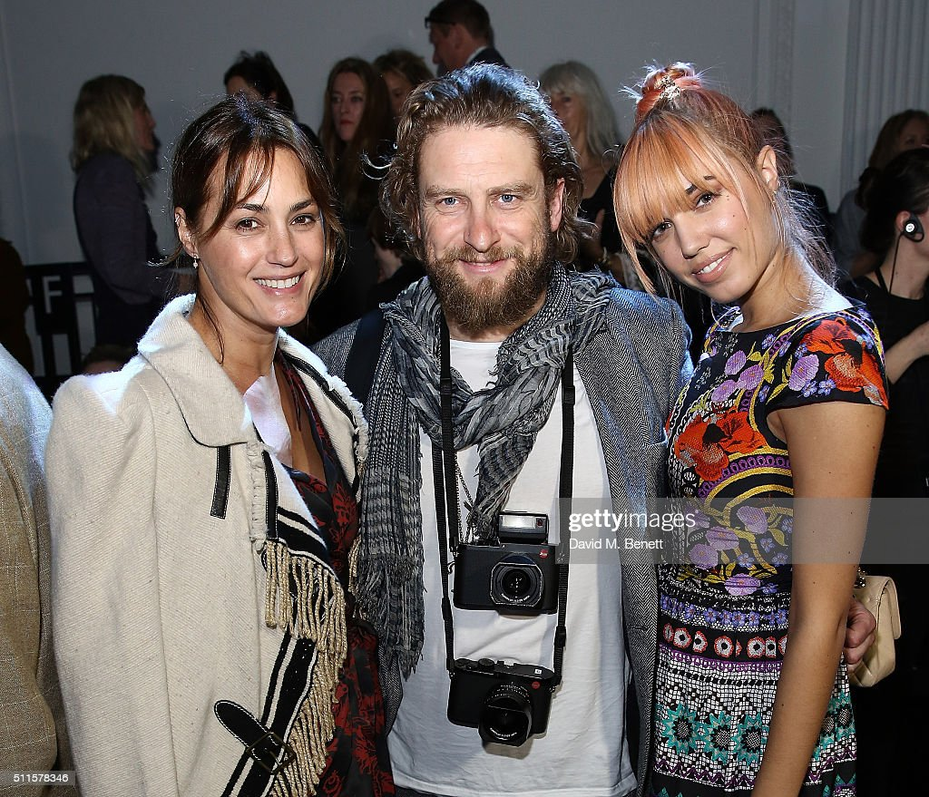 Yasmin Le Bon Gregg Williamsd and Amber Le Bon attend the Temperley London show during London Fashion Week Autumn/Winter 2016/17 at The Lindley Hall...