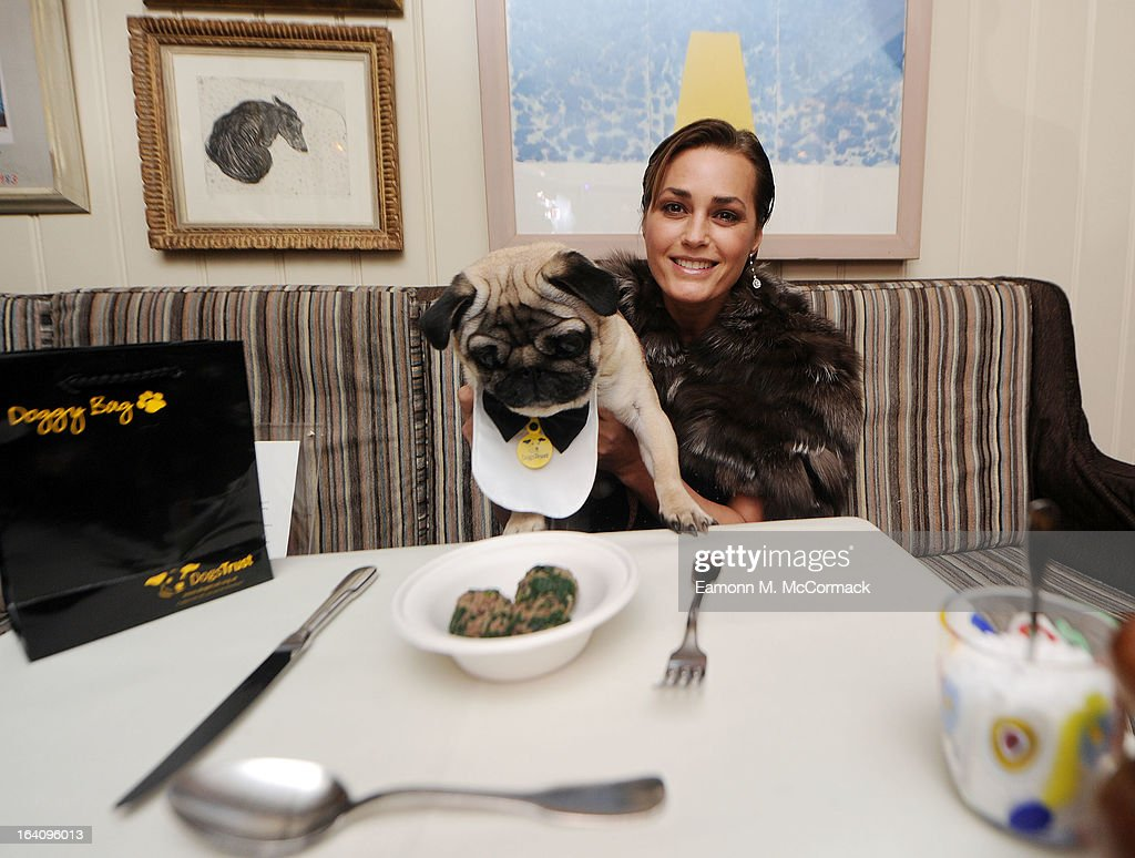 Yasmin Le Bon joins VIP (very important pooches)of the furry variety took to Mayfair members' club George on Tuesday 19th March in aid of Dogs Trust to launch a dog friendly menu. Yasmin Le Bon, Patrick Cox and Tuuli Shipster and their four-legged friends joined members to celebrate the new dishes in aid of the UK's largest dog welfare charity, Dogs Trust at The George Club on March 19, 2013 in London, England.