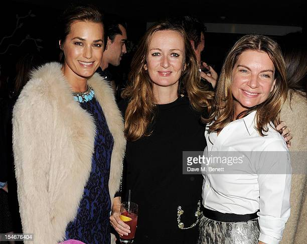 Yasmin Le Bon Lucy Yeomans and Natalie Massenet attend as Matthew Williamson celebrates his 15th anniversary featuring a VIP screening of his film...