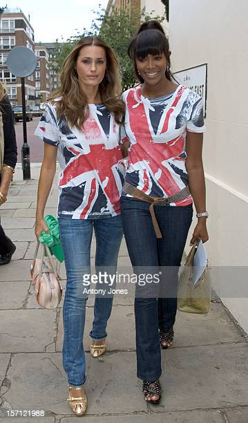 Yasmin Le Bon Naomi Campbell Arrive At A Press Conferences To Present Fashion For Relief To Raise Money For The Rotary Flood Disaster Appeal At The...