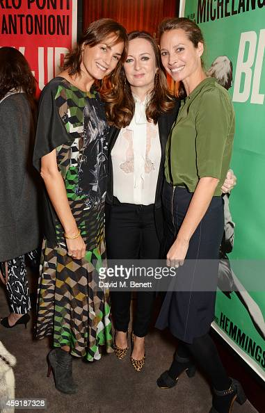 Yasmin Le Bon PORTER EditorinChief Lucy Yeomans and Christy Turlington Burns attend a screening hosted by PORTER in honour of cover girl Christy...