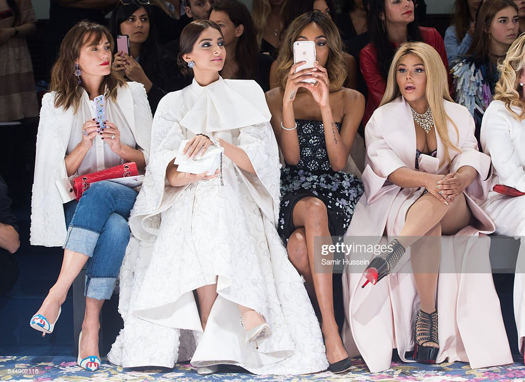 Yasmin Le Bon Sonam Kapoor Jourdan Dunn and Lil' Kim attend the Ralph Russo Haute Couture Fall/Winter 20162017 show as part of Paris Fashion Week on...