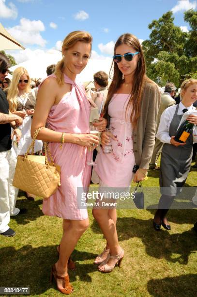 Yasmin LeBon and Amber Le bon attend the Cartier Style Luxe lunch at the Goodwood Festival of Speed on July 5 2009 in Chichester England
