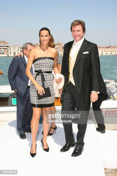 Yasmin LeBon and Simon Le Bon attend the wedding of Tamara Beckwith and Giorgio Veroni held at the Redentore church on August 27 2007 in Venice