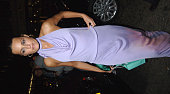 Yasmin LeBon during Patrick Cox 20th Anniversary Party at Nobu in London Great Britain