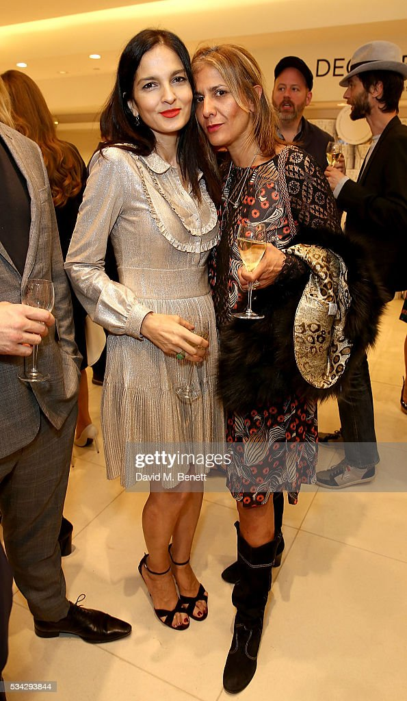 Yasmin Mills and Azzi Glasser attend 'Decades of Drama' at Fenwicks Bond Street on May 25, 2016 in London, England.