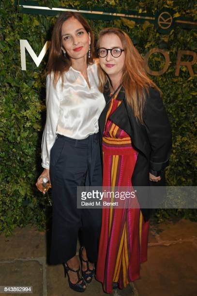 Yasmin Mills and Daisy de Villeneuve attends the launch of the 'Kingsman' shop on St James's Street in partnership with MR PORTER MARV Twentieth...