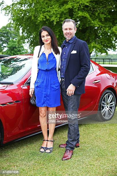 Yasmin Mills and guest at the Maserati Jerudong Park Trophy at Cirencester Park Polo Club on May 24 2015 in Cirencester England