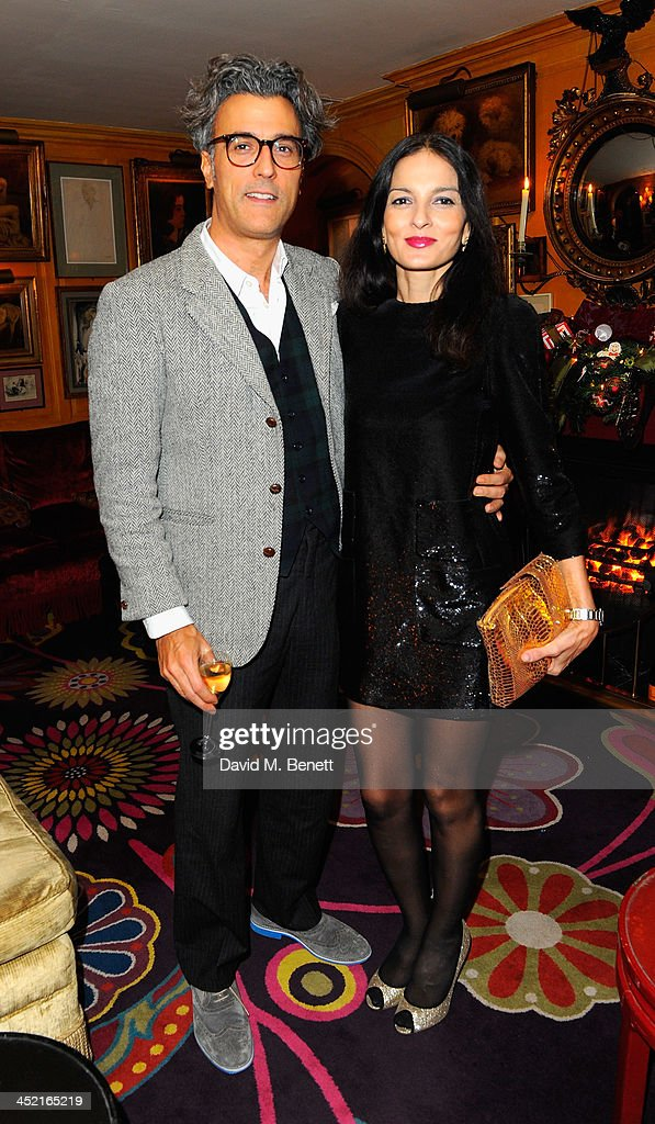 Yasmin Mills and guest attend Veuve Clicquot Style Party at Annabel's on November 26, 2013 in London, England.