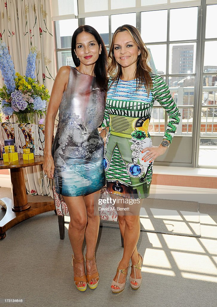 Yasmin Mills and Maria Hatzistefanis attend Mary Katrantzou for Rodial candle launch party at Soho Hotel on July 8, 2013 in London, England.