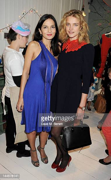 Yasmin Mills and Natalia Vodianova attend the launch of the Natalia Dress inspired by Natalia Vodianova to benefit her Naked Heart Foundation at...