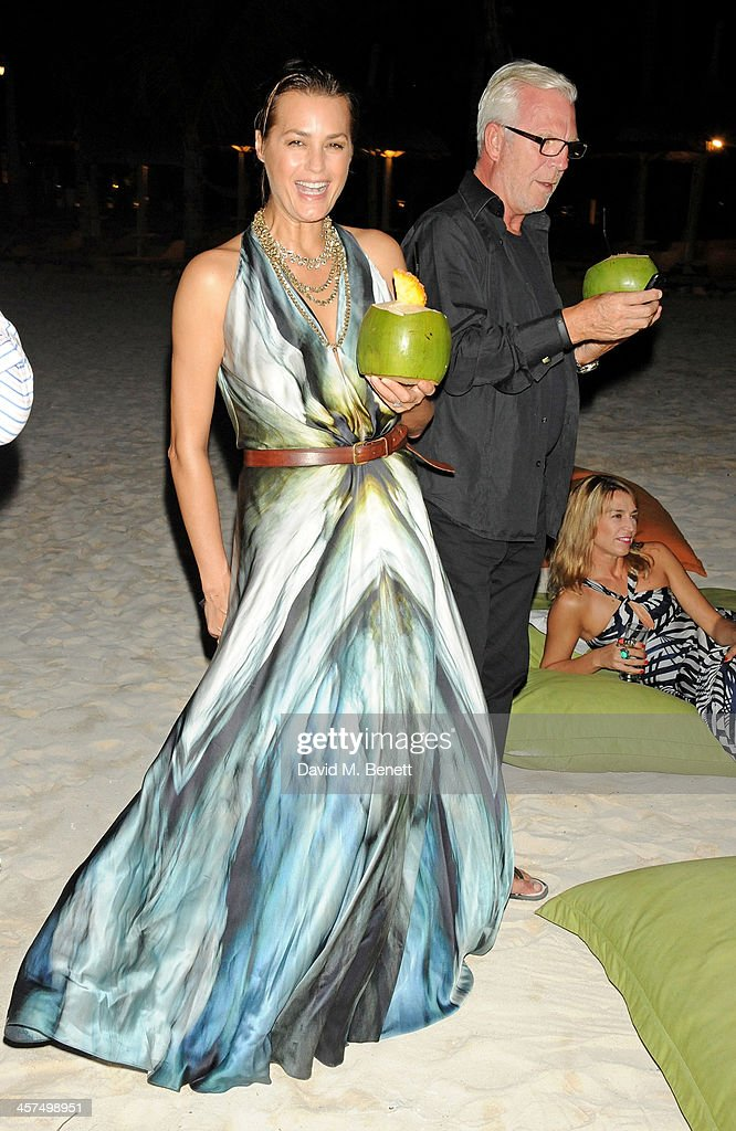 Yasmin Mills (L) and Robert Clift attend a private dinner hosted by Kelly Hoppen to celebrate her design of the exclusive resort LUX Belle Mare on December 17, 2013 in Belle Mare, Mauritius.