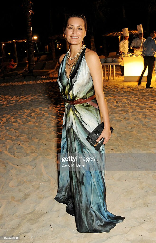 Yasmin Mills attends a private dinner hosted by Kelly Hoppen to celebrate her design of the exclusive resort LUX Belle Mare on December 17, 2013 in Belle Mare, Mauritius.