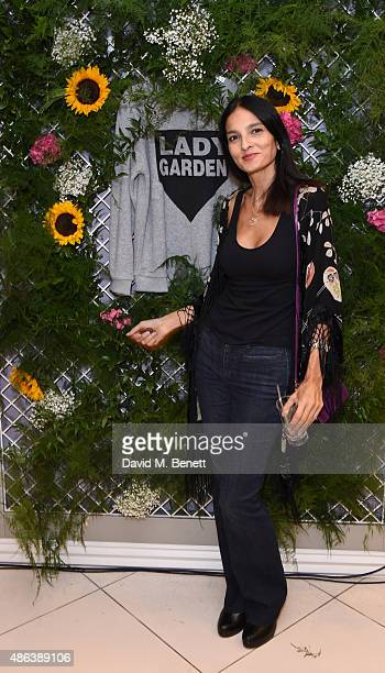 Yasmin Mills attends the Lady Garden x Topshop campaign launch featuring a sweatshirt collection by designer Simeon Farrar in aid of the...