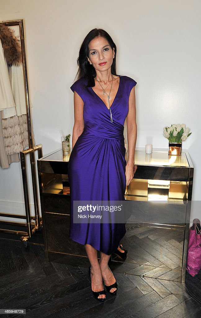 Yasmin Mills attends the opening of the new Amanda Wakeley store on January 30, 2014 in London, England.