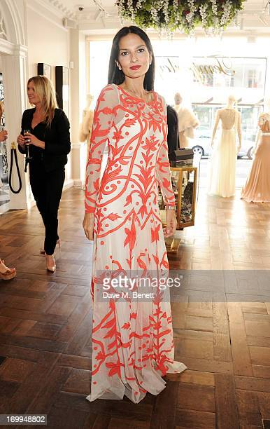Yasmin Mills attends the Salon Tea hosted by Alice Temperley and Yasmin Mills at Temperley London on June 4 2013 in London England