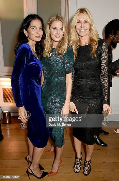 Yasmin Mills Donna Air and Melissa Odabash attend the Baccarat/1 Hotel Dinner at One Horse Guards on October 21 2015 in London England