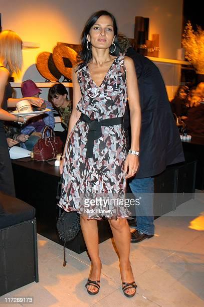Yasmin Mills during Donna Karan 20th Anniversary Party at Donna Karan Shop Bond Street in London Great Britain