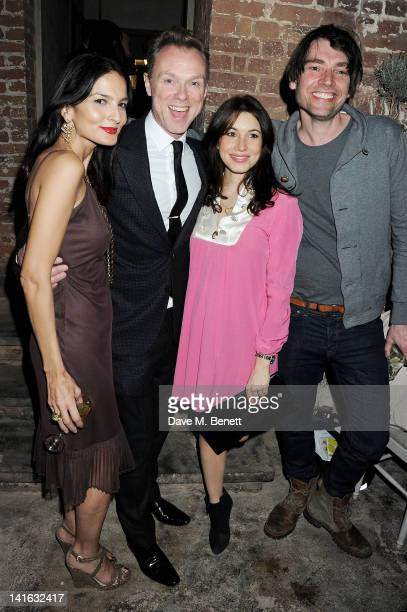 Yasmin Mills Gary Kemp Lauren Kemp and Alex James attend a private dinner celebrating 'Alex James Presents' line of cheeses at Aubaine Dover Street...